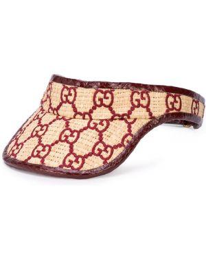 Daszek beżowy skórzany Gucci