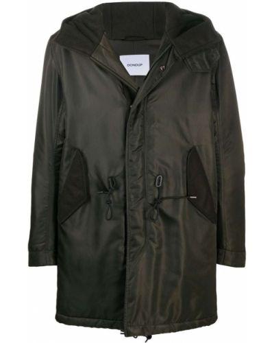 Z rękawami zielony płaszcz przeciwdeszczowy od płaszcza przeciwdeszczowego z kieszeniami Dondup