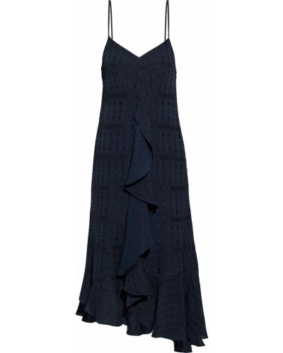 Satynowa sukienka midi Victoria Beckham