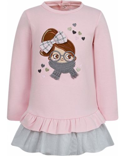 Хлопковое розовое платье Mayoral