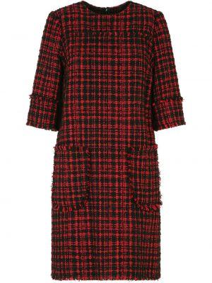 Шерстяное красное платье мини с вырезом Dolce & Gabbana