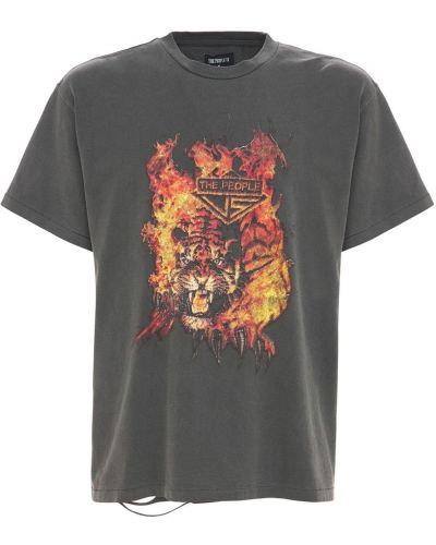 Czarny t-shirt bawełniany vintage The People Vs