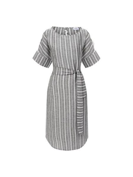 Льняное платье - серое La Fabbrica Del Lino