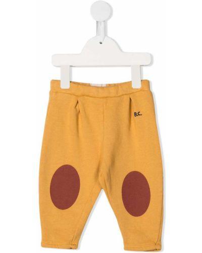 Желтые ватные хлопковые леггинсы с вышивкой Bobo Choses
