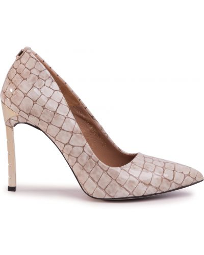 Туфли на каблуке - бежевые R.polański