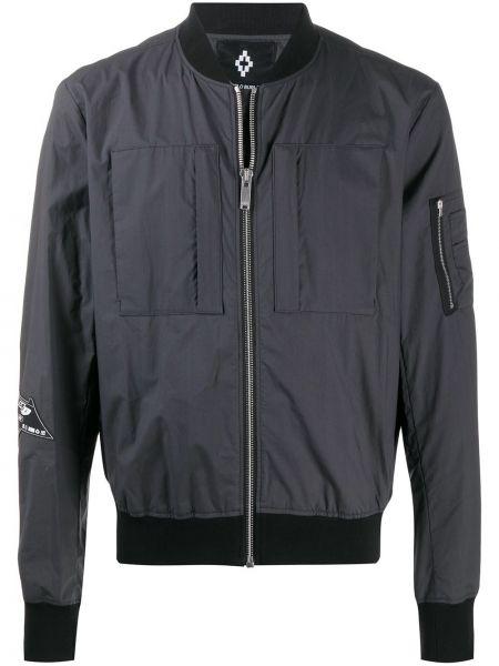 Czarna długa kurtka bawełniana z długimi rękawami Marcelo Burlon County Of Milan