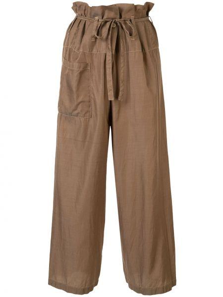 Драповые свободные брюки с завязками с карманами свободного кроя Issey Miyake Pre-owned