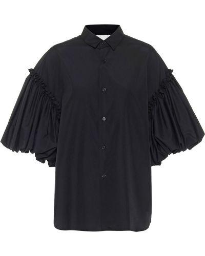Klasyczna czarna bluzka bawełniana Noir Kei Ninomiya