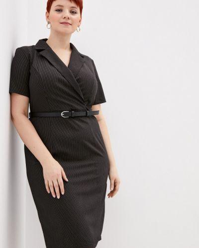 Повседневное черное повседневное платье Mankato