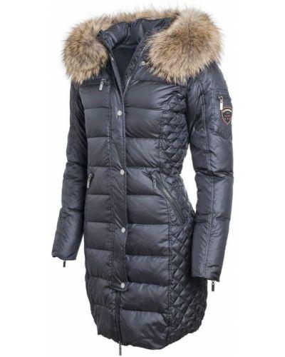 Czarna kurtka puchowa pikowana casual Rockandblue