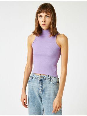 Fioletowy sweter bez rękawów Koton