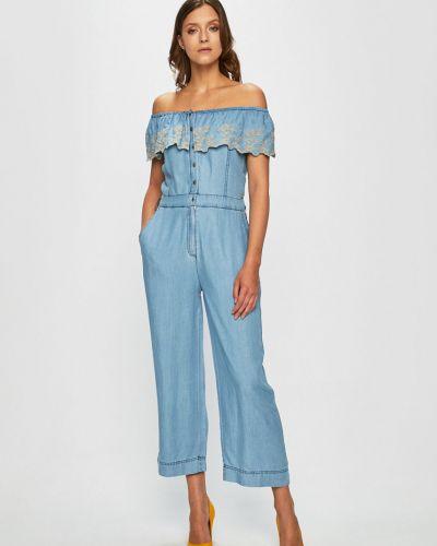Джинсовый комбинезон свободный синий Pepe Jeans