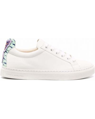 Белые кроссовки на шнуровке Sophia Webster