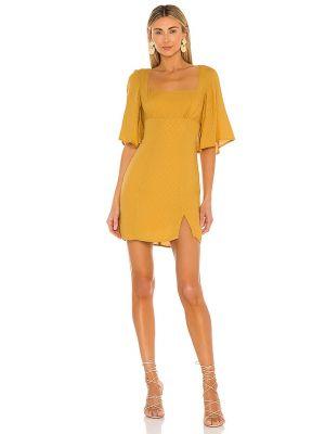 Домашнее желтое платье мини с подкладкой House Of Harlow 1960