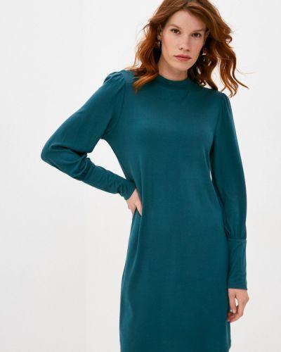 Прямое бирюзовое платье Jacqueline De Yong