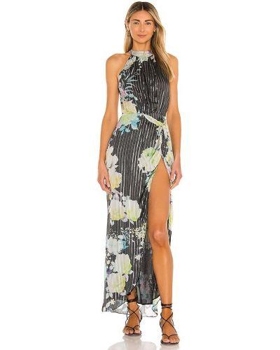Вечернее платье с вышивкой - черное Rococo Sand