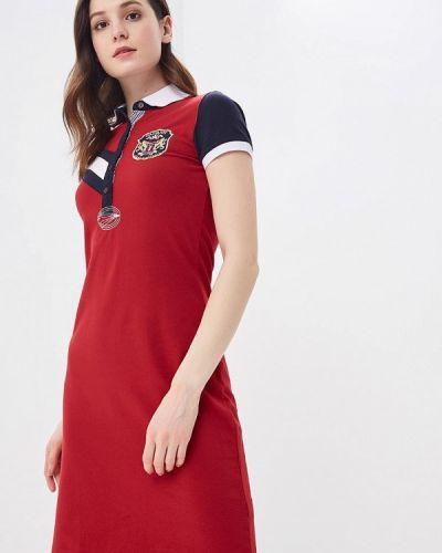 Платье весеннее красный Galvanni