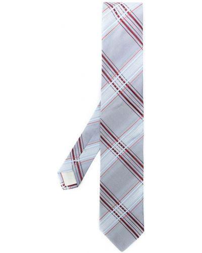 Синий галстук в клетку Prada