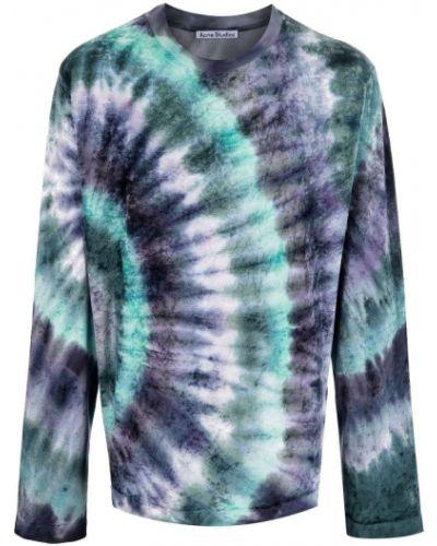 T-shirt z długimi rękawami - niebieska Acne Studios