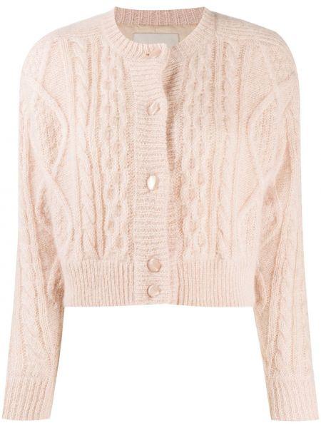 Розовое шерстяное длинное пальто с подкладкой Laneus
