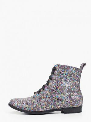 Кожаные ботинки - серые Bosccolo