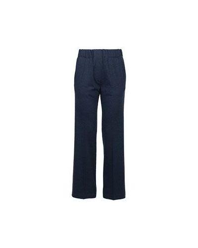 Шерстяные брюки - синие Fedeli