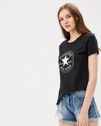 Черная футболка Converse