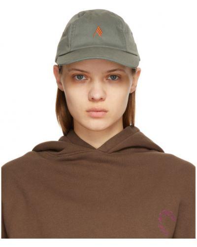 С ремешком кепка хаки с вышивкой The Attico
