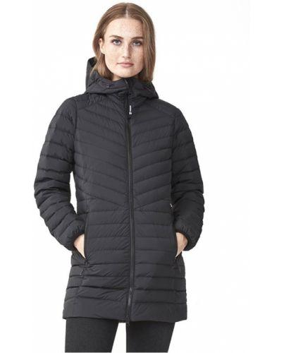 Пуховая черная куртка с капюшоном Tenson