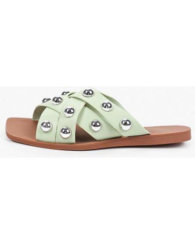 Зеленые кожаные сабо Sweet Shoes
