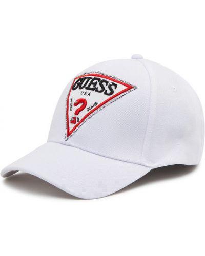 Biała czapka z daszkiem Guess