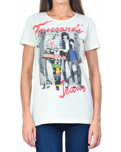 Футболка белая Trussardi Jeans