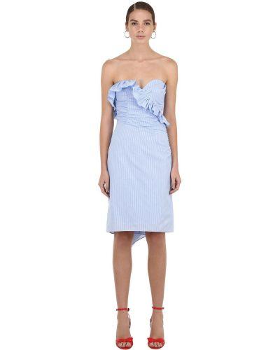 Платье мини на молнии с оборками Alexa Chung