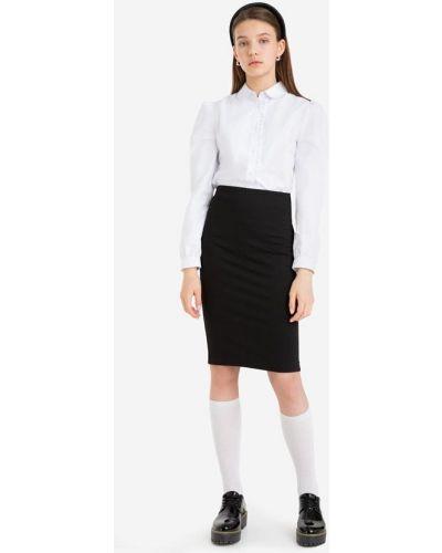 Джинсовая юбка миди - черная Gloria Jeans