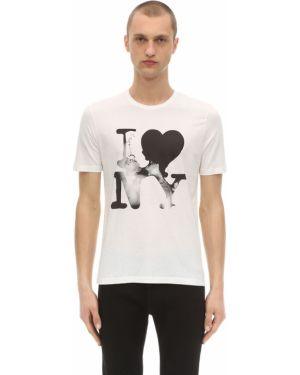 Prążkowany biały t-shirt bawełniany Passarella Death Squad