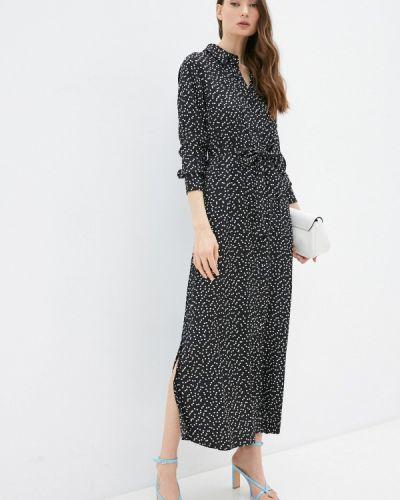 Черное платье-рубашка Banana Republic