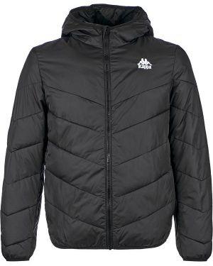 Куртка с капюшоном демисезонная черная Kappa
