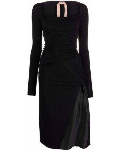 Шелковое платье - черное N°21