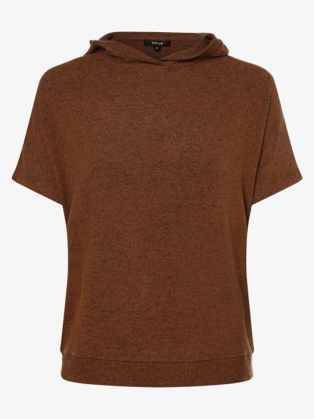 Beżowy t-shirt z kapturem Opus
