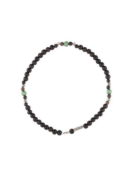 Ожерелье из бисера серебряный Dsquared2