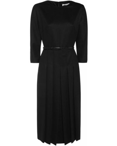 Czarna sukienka z paskiem Max Mara