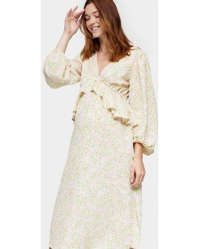 Бежевое прямое платье для беременных для беременных Topshop Maternity