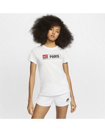 Белая футболка с принтом Nike