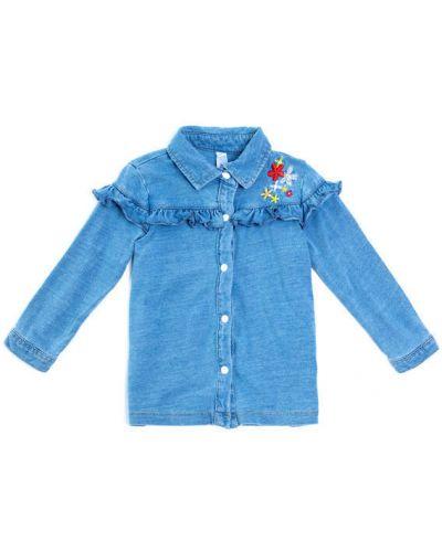 Блуза с оборками джинсовый Playtoday Baby