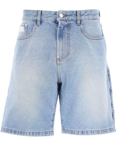 Niebieskie jeansy skorzane Gcds