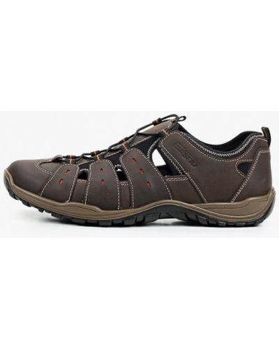 Коричневые кожаные кроссовки Salamander