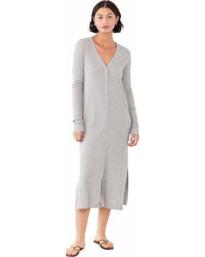 Текстильное платье макси с декольте с длинными рукавами Wilt