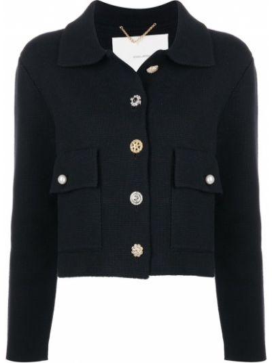 Пиджак длинный - черный Adam Lippes