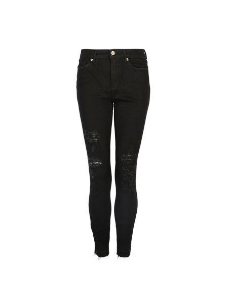 Czarne jeansy skinny Juicy Couture