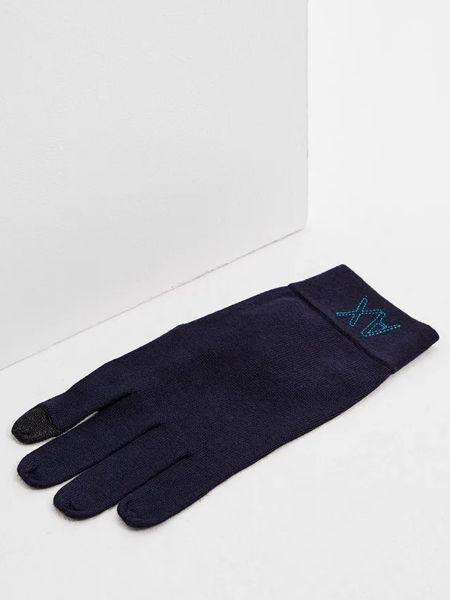 Синие перчатки Armani Exchange